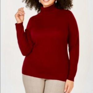 Charter Club Pure Cashmere Turtleneck Sweater 2X